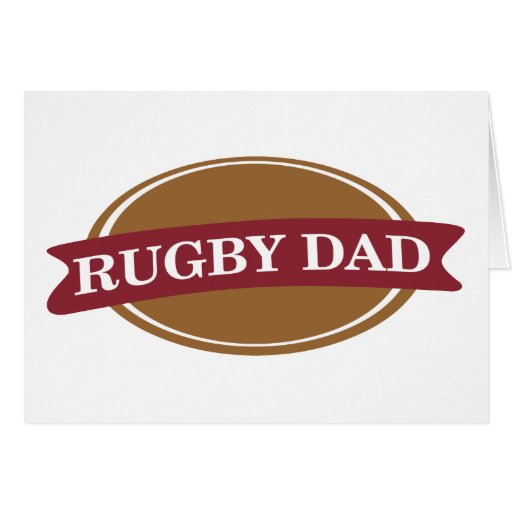 Rugby Dad Greeting Card