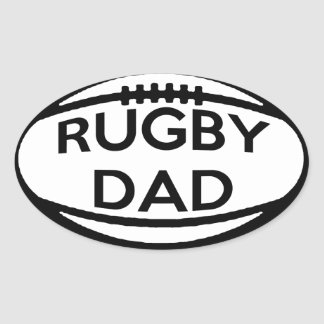 Rugby Dad Oval Sticker
