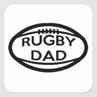 Rugby Dad Square Sticker