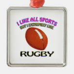 Rugby designs christmas tree ornaments