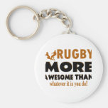 Rugby designs key chain