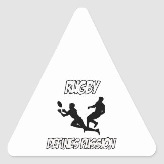 RUGBY designs Triangle Sticker