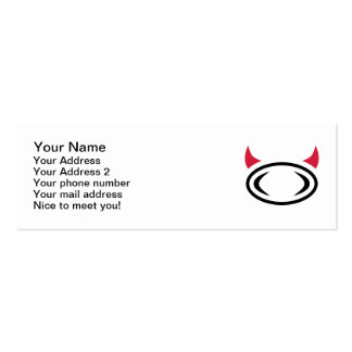 Rugby devil Double-Sided mini business cards (Pack of 20)