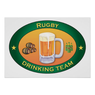 Rugby Drinking Team Poster