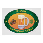 Rugby Drinking Team Print