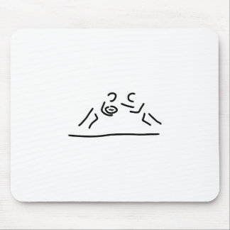 rugby egg fight player mouse pad