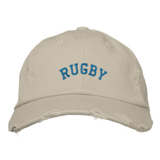 RUGBY EMBROIDERED BASEBALL HAT