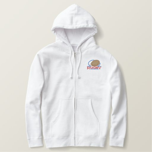 Rugby Embroidered Hooded Sweatshirts