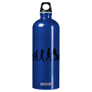 Rugby Evolution Fun Sports Aluminum Water Bottle