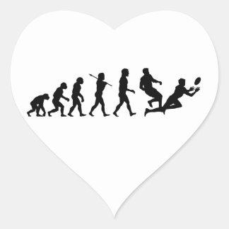 Rugby Evolution Fun Sports Heart Sticker