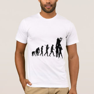 Rugby Forward lineout jumpers evolution of Rugby T-Shirt
