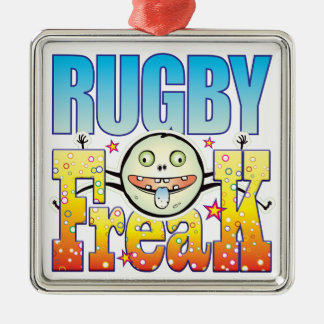 Rugby Freaky Freak Metal Ornament