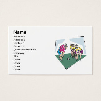 Rugby Game Business Card
