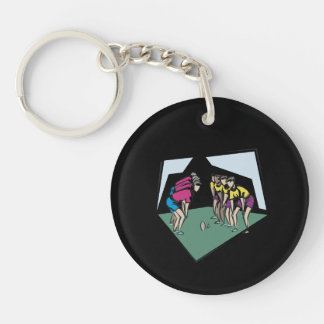 Rugby Game Keychain