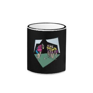 Rugby Game Ringer Coffee Mug