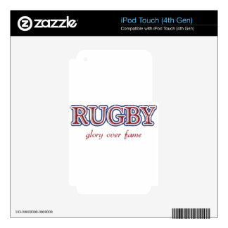 Rugby Glory Over Fame Distressed | U.S. Custom Ink iPod Touch 4G Decals