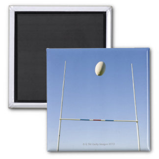 Rugby Goal 2 Inch Square Magnet