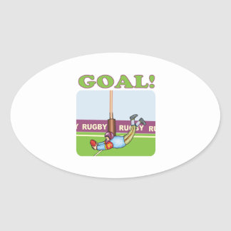 Rugby Goal 2 Oval Sticker