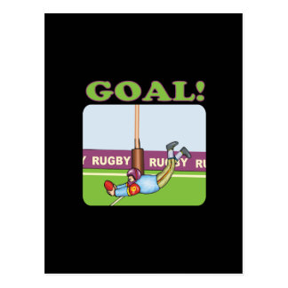 Rugby Goal 2 Postcard