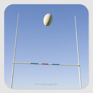 Rugby Goal Square Sticker