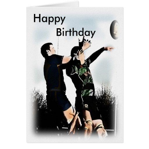 Rugby Happy Birthday Card