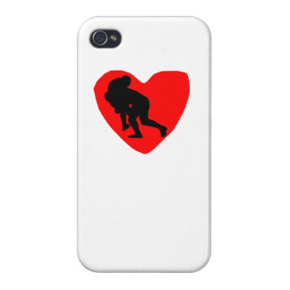 Rugby Heart iPhone 4 Case