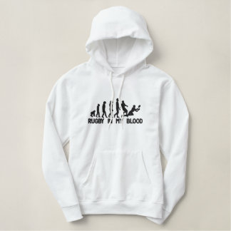 Rugby In The Blood Embroidered Hoodie