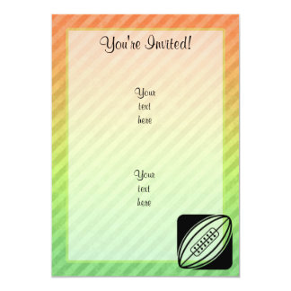 Rugby 5x7 Paper Invitation Card