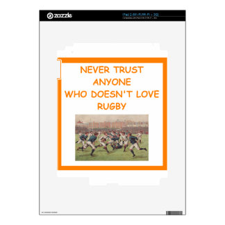 rugby iPad 2 decal
