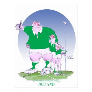 rugby irish chums, tony fernandes postcard