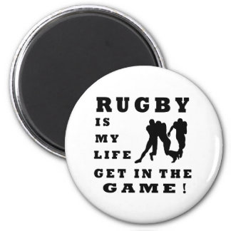 Rugby Is My Life Fridge Magnets
