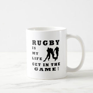 Rugby Is My Life Coffee Mugs
