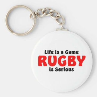 Rugby is serious keychain