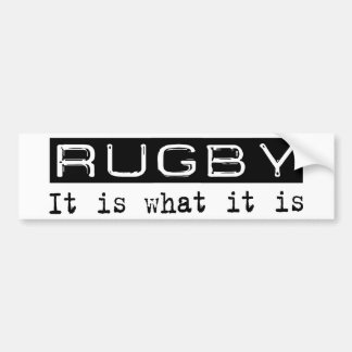 Rugby It Is Bumper Stickers