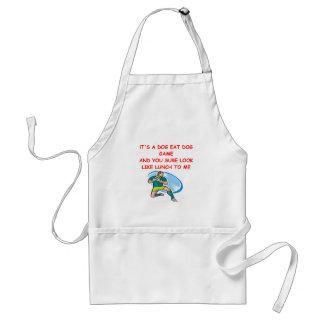 rugby joke adult apron