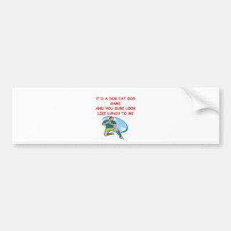 rugby joke car bumper sticker