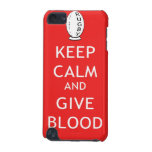 Rugby - Keep Calm & Give Blood iPod Touch (5th Generation) Cases