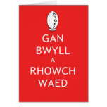 Rugby Keep Calm & Give Blood (Welsh) Stationery Note Card