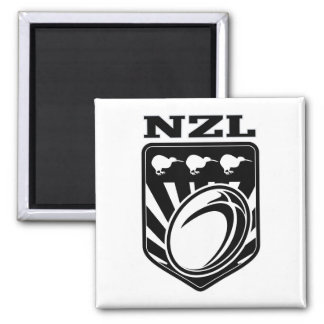 rugby league ball kiwi shield new zealand nzl 2 inch square magnet