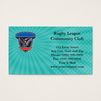 Rugby League Community Club Business Card