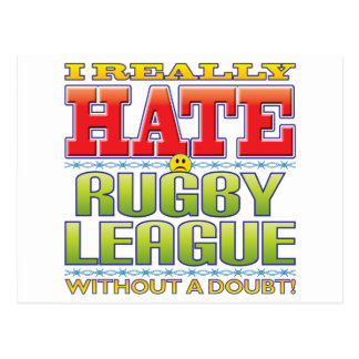 Rugby League Hate Face Postcard