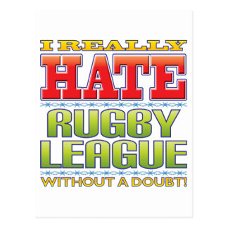 Rugby League Hate Postcard