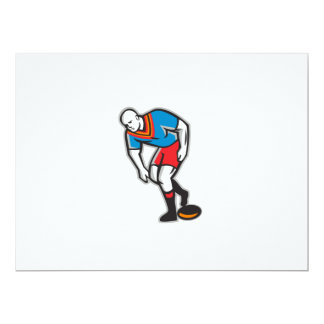 Rugby League Player Playing Ball Retro Card