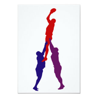 Rugby Lineout Invitations