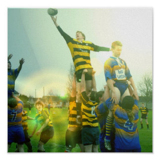 Rugby Match  Poster