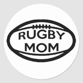 Rugby Mom Classic Round Sticker