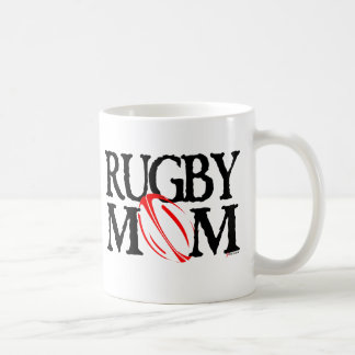 rugby mom classic white coffee mug