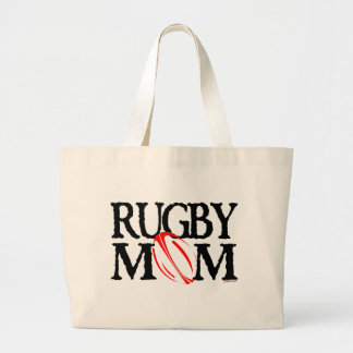 rugby mom large tote bag