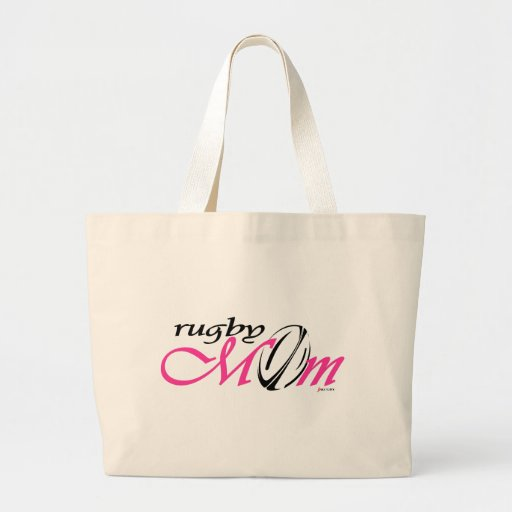 rugby mom (pink) bags