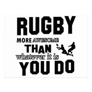 rugby  more awesome postcard
